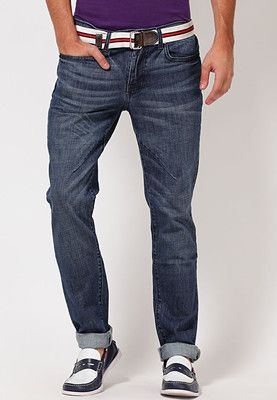 4f83c284cb7 Step out in comfort and style wearing these navy blue coloured jeans from  the house of Web Jeans. These slim-fit jeans feature washed effect for  distinctive ...