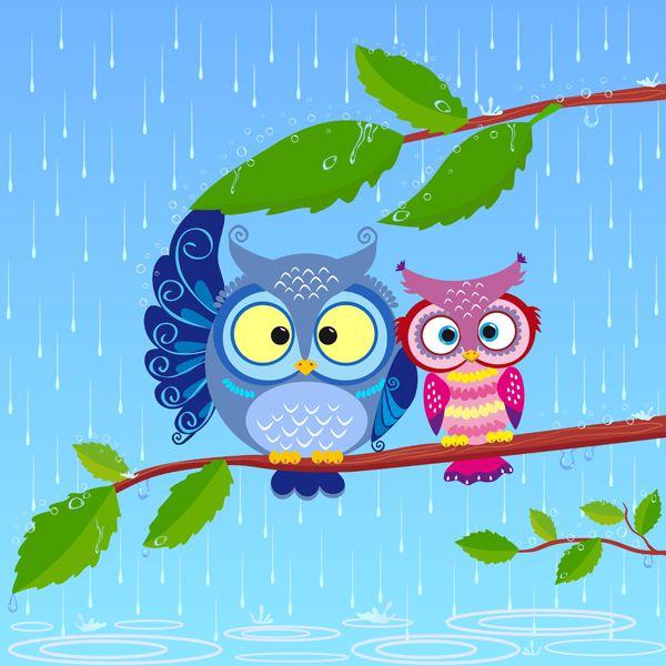 owl pair by Yullia Brykova