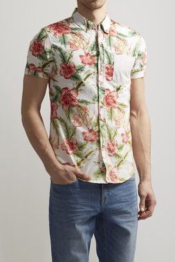 b160dfaa85 Hibiscus Floral Printed Woven Shirt - Soul Star - Shirts   JackThreads