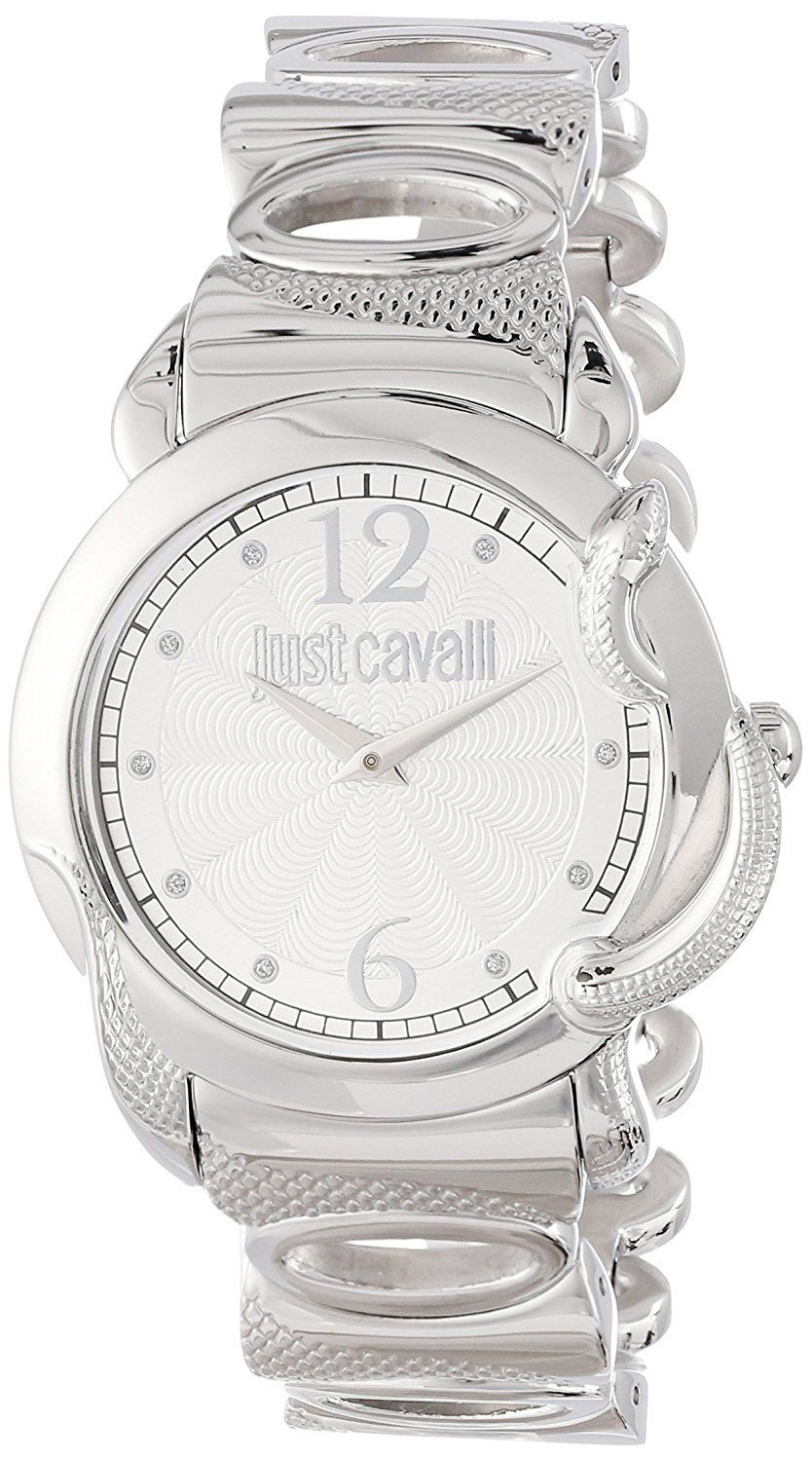 Just Cavalli Women's R7253576503 Eden Round Stainless Steel Silver Guilloche Dial Watch * Quickly view this special  product, click the image