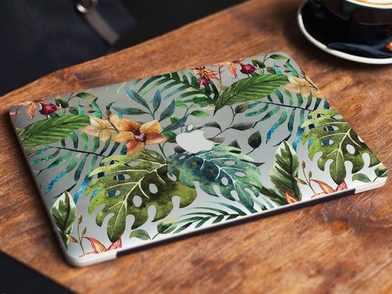 Tropical pattern palm and montera leaves protective case Hard plastic macbook cover 12 macbook case, touch bar macbook, new macbook pro 13 #tropicalpattern