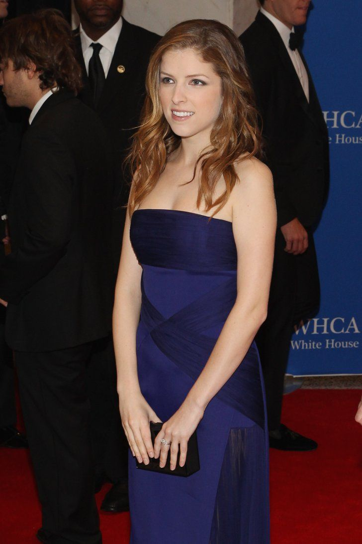 Pin for Later: Stars Set DC Aglow at the White House Correspondents' Dinner Anna Kendrick wore a blue dress.