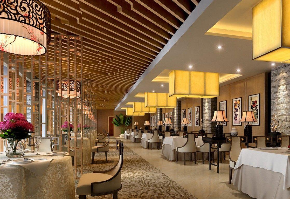 Restauranthallinteriorchineselampsrendering 1118×767 Glamorous Chinese Restaurant Kitchen Design Review