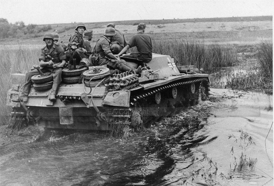 StuG III assault guns, Berezhok. August 14, 1941.