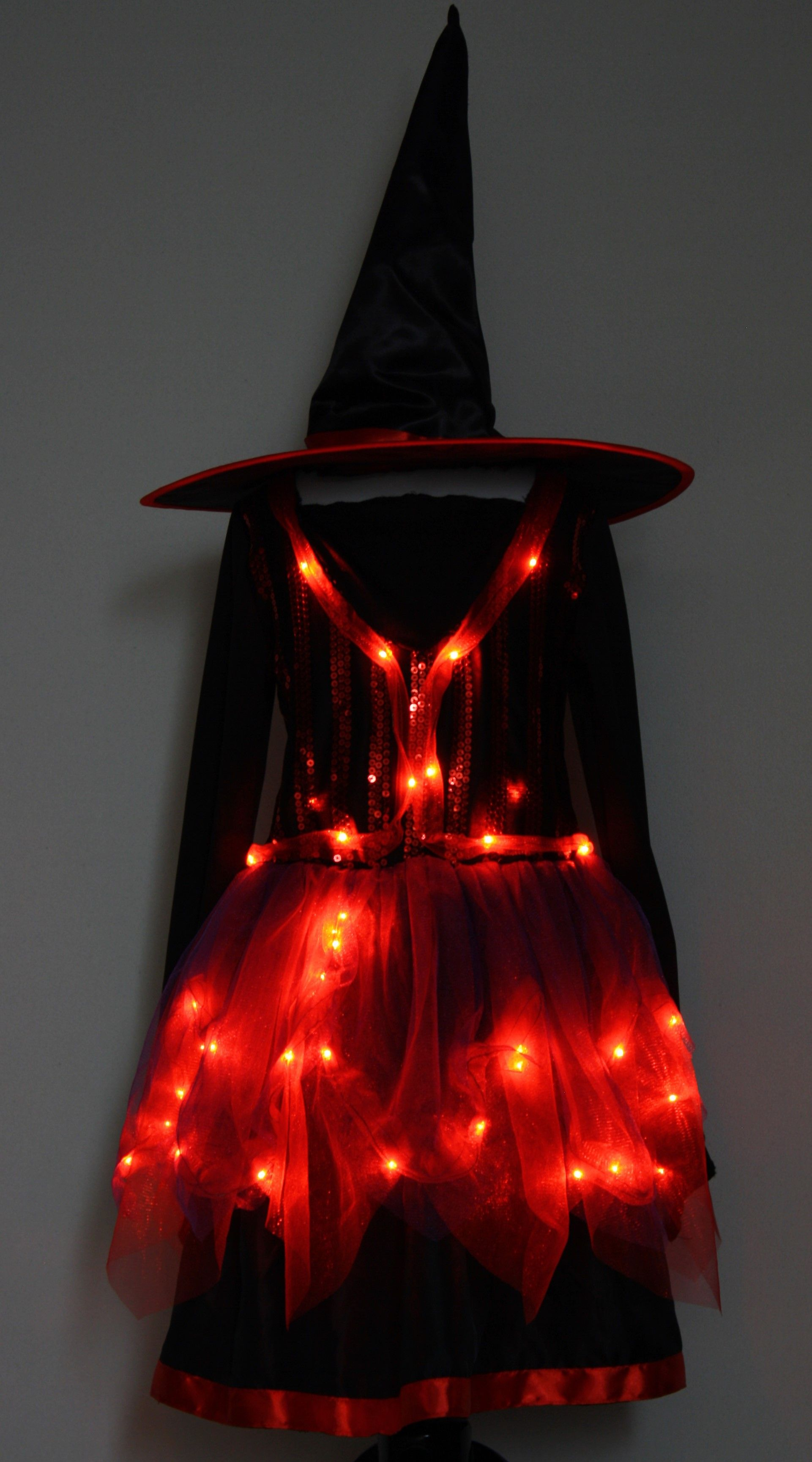 Witch Girls Light Up Halloween Costume. This light up witch ...