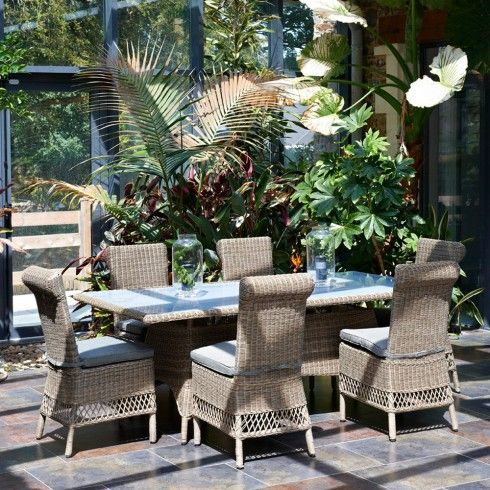 Salon De Jardin Luxe Vendome En Aluminium Et Resine Tressee De La Marque Paris Garden Salon De Jardin Mobilier Jardin Jardins