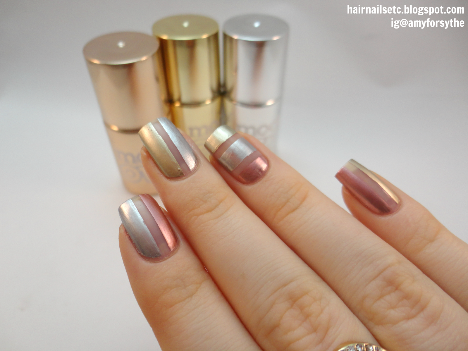 summer rose gold nails - google search | nails | pinterest | gold nail