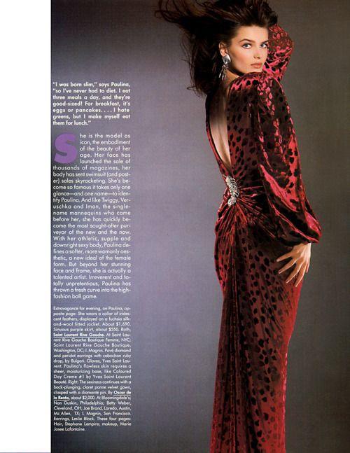 Harper's Bazaar US, September 1986  Photographer: Marco Glaviano  Model: Paulina Porizkova