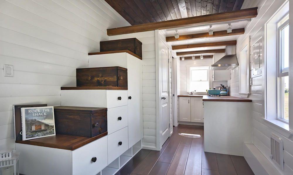 Treppenaufgang Im Tiny House Amalfi Edition Kleines