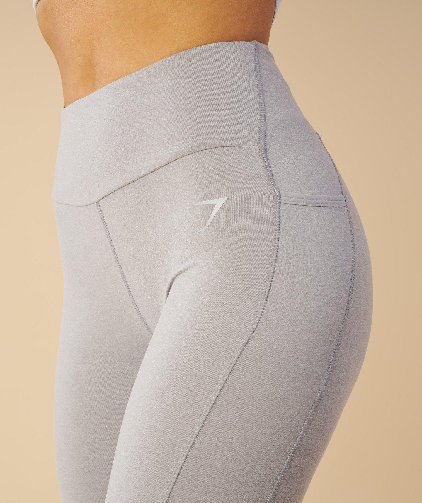 Gymshark Aspire Leggings Light Grey Marl Gymshark Flex