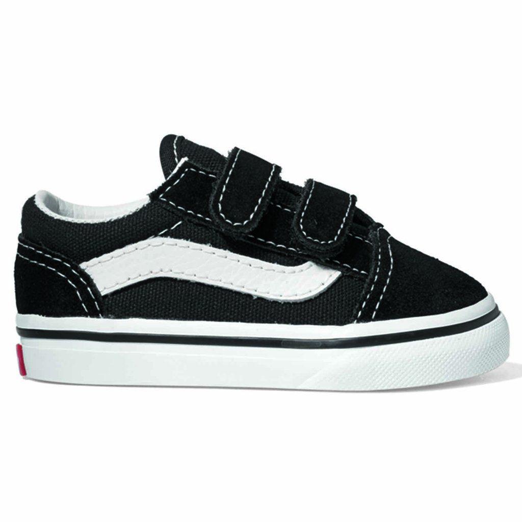 ff7c745971 Vans Old Skool Velcro Black with White stripe - TODDLER
