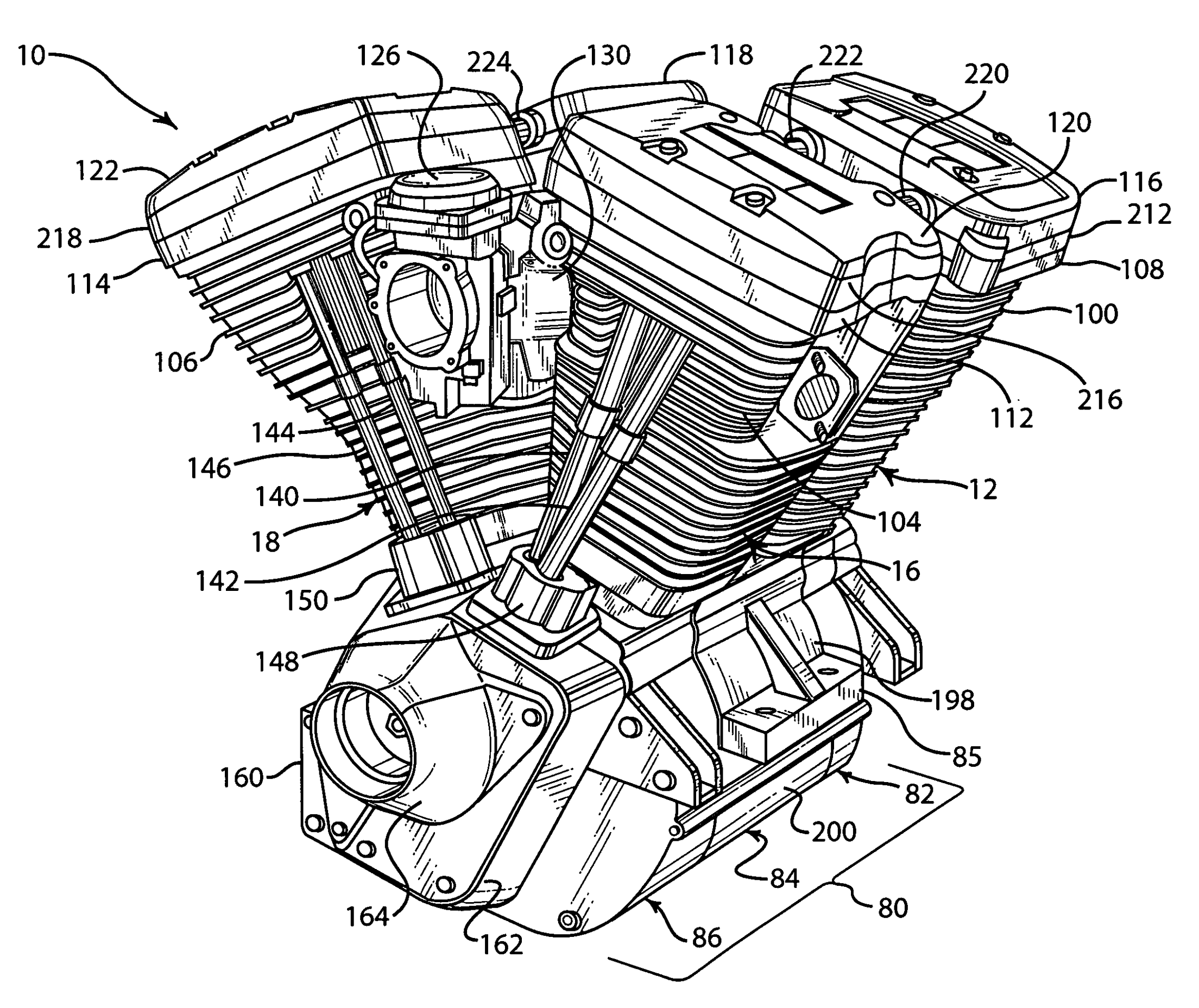 Harley Davidson Twin Cam Engine Diagram Review In 2020 Harley Davidson Engines Harley Davidson Patent Drawing
