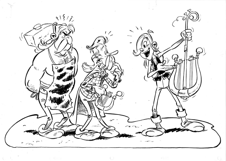 Ast rix et les vikings g n rique asterix pinterest - Dessin obelix ...