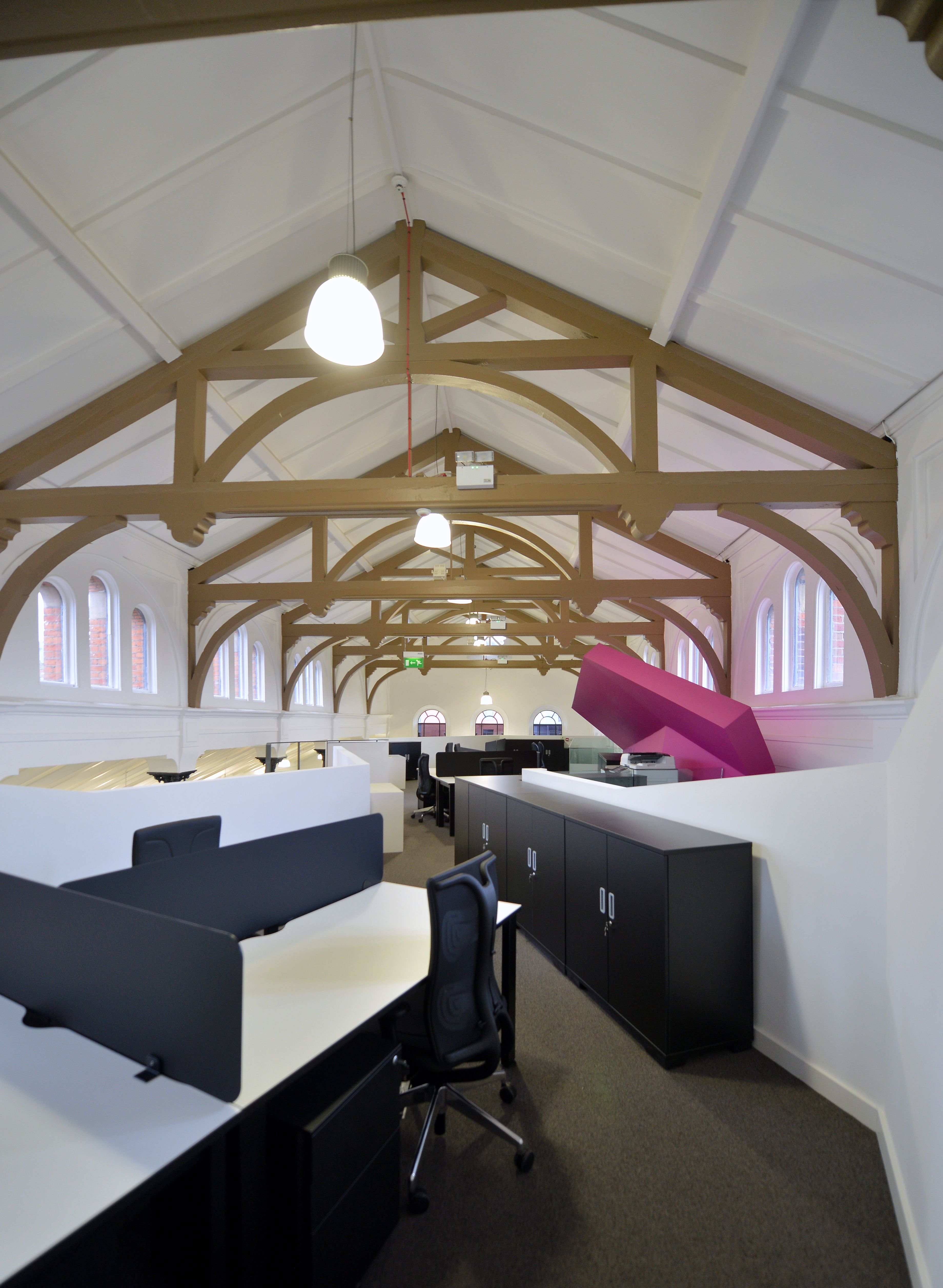 Great Refurbishment Of The Old Church To Open Plan Office