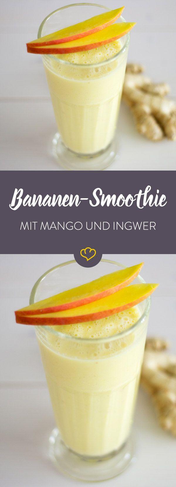 Mango-Banane-Ingwer-Smoothie #bestgincocktails
