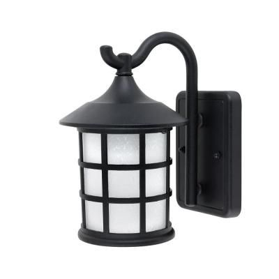 Globe Electric 1 Light Outdoor Black Wall Lantern With