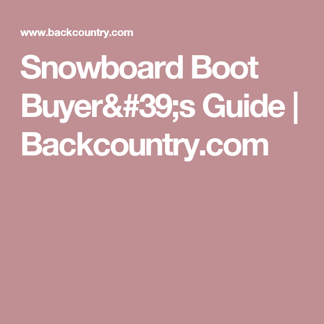 Snowboard Boot Buyer's Guide | Backcountry.com