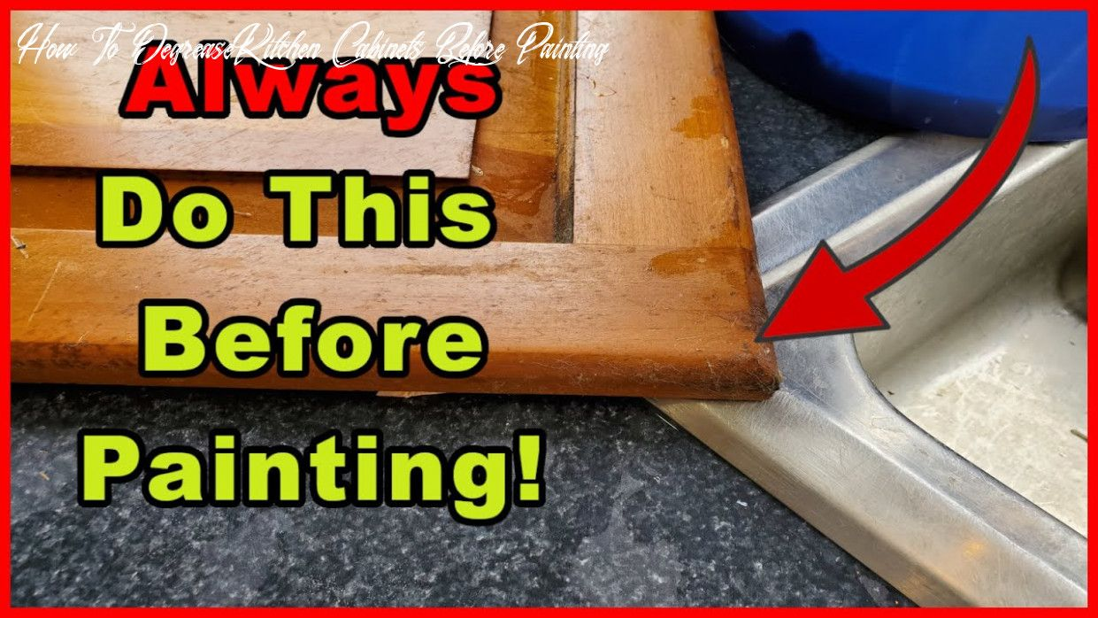 How To Degrease Kitchen Cabinets Before Painting In 2020 Clean Kitchen Cabinets Cleaning Cabinets Clean Kitchen