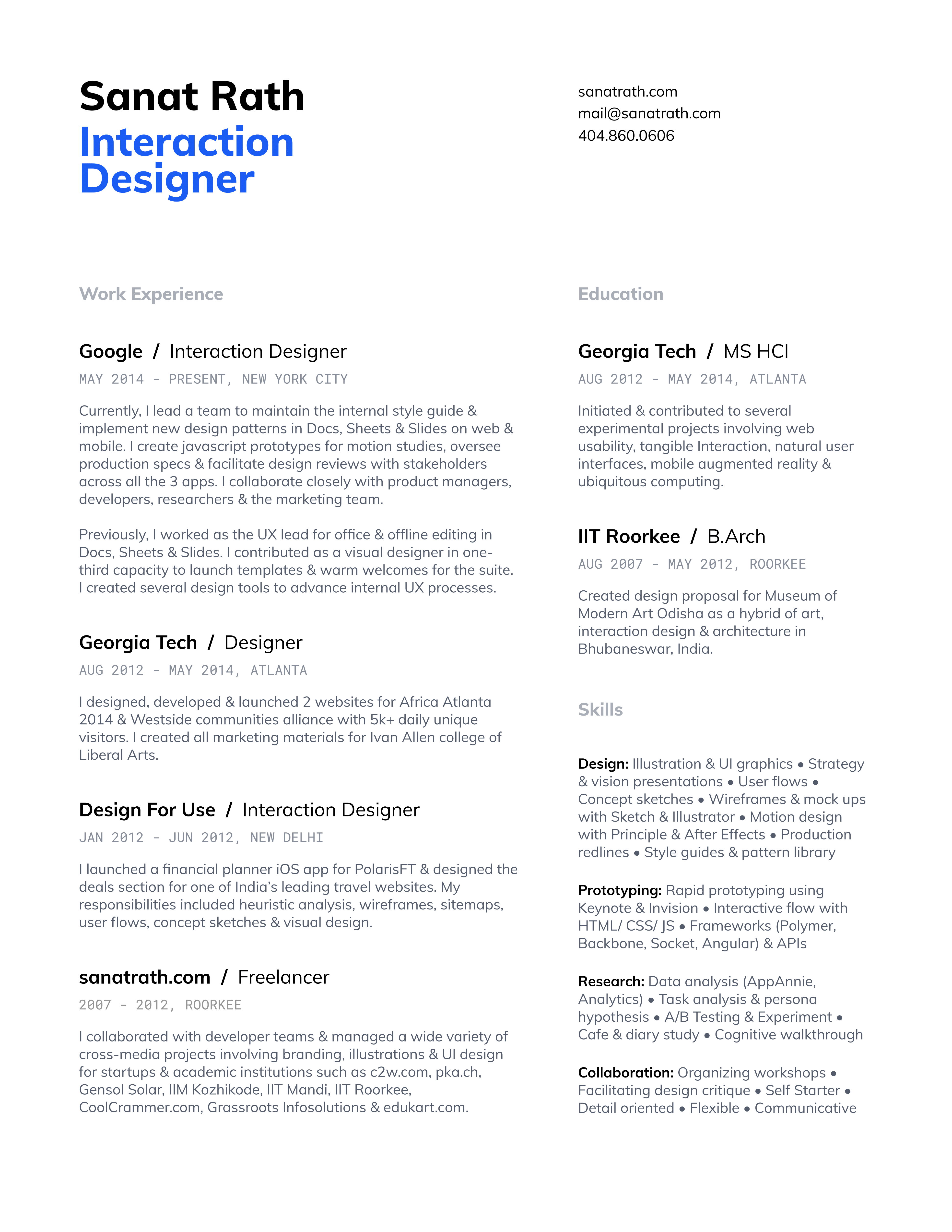 A Ux Designer Resume Hiring Managers Will Love Uxfolio Blog Resume Design Ux Design Ux Design Portfolio