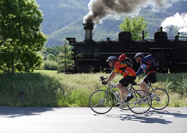 The premise of the Iron Horse Bicycle Classic (ironhorsebicycleclassic.com) is gloriously simple. The 50-mile road race begins in Durango, Colorado, and—6,700 feet of climbing and two mountain passes later—ends in Silverton. The historic narrow-gauge train takes an average of three and a half hours to make the journey. All you have to do is beat it.