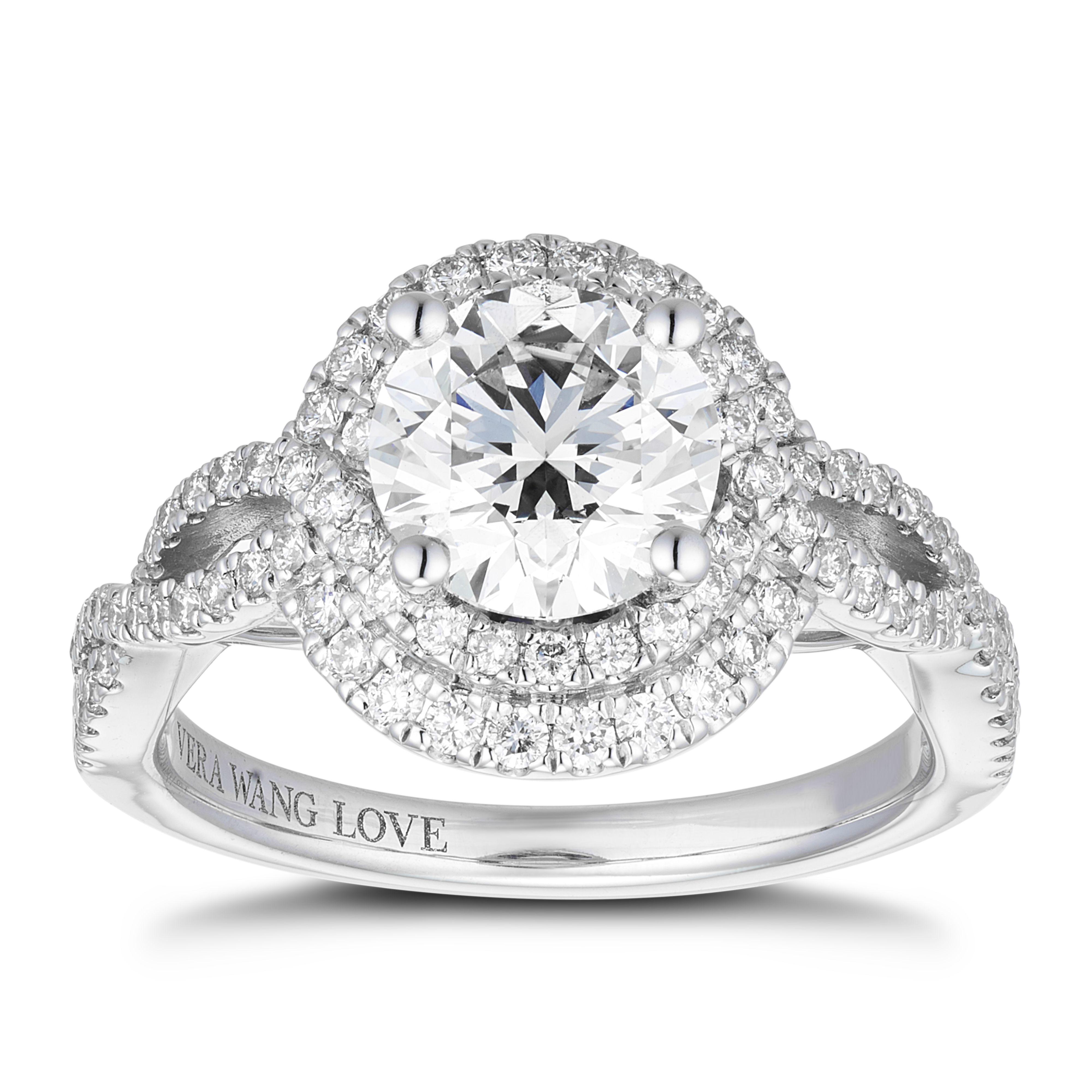 Vera Wang 18ct White Gold 1.95ct Diamond Double Halo Ring