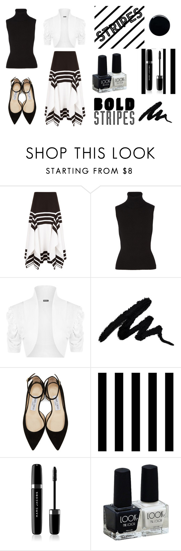 """""""Stripes Contest"""" by ahsoka-star-wars ❤ liked on Polyvore featuring Rosetta Getty, Michael Kors, WearAll, Jimmy Choo, Tempaper, Marc Jacobs and JINsoon"""