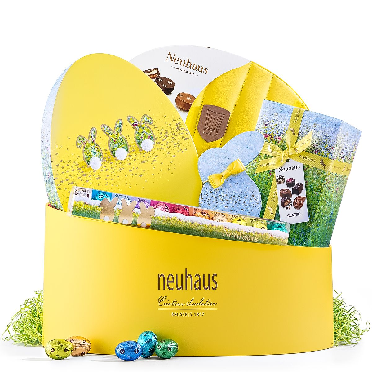 It will be a very happy easter when you send our most abundant it will be a very happy easter when you send our most abundant easter gift box ever the impressive selection of chocolate eggs traditional pralines negle Images