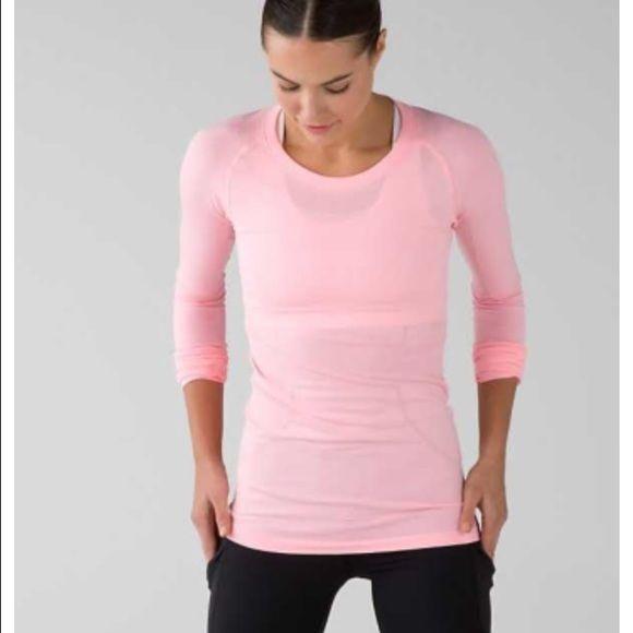 3096061f7919ba Lululemon Long Sleeve Top Swiftly Tech Long Sleeve Crew. Light Pink lululemon  athletica Tops Tees - Long Sleeve