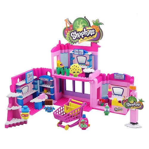 shopkins kinstructions deluxe supermarket set - town center - the