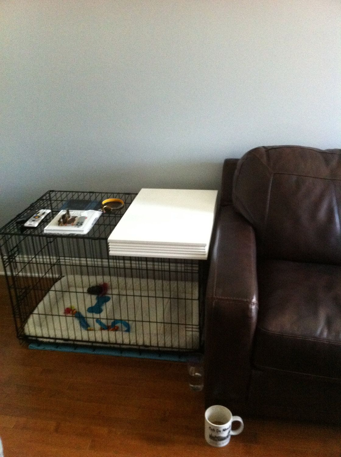 dog crate or kennel topper nice idea pets pinterest dog