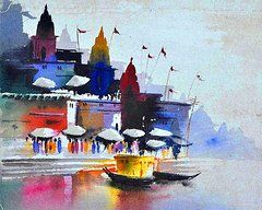 Ganges River Paintings - The Ganges by Ragini | DDK: Juvvadi: Water