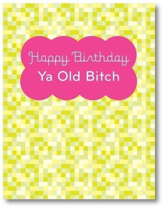 Happy birthday ya old bitch card by maybeyoushoulddie on etsy happy birthday ya old bitch card by maybeyoushoulddie on etsy 500 bookmarktalkfo Choice Image