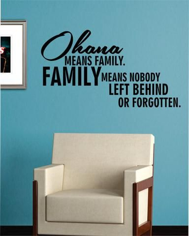ohana means family quote decal sticker wall vinyl decor art | cricut