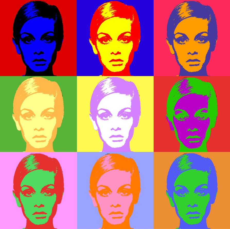 andy warhol complementary color artwork comments. Black Bedroom Furniture Sets. Home Design Ideas