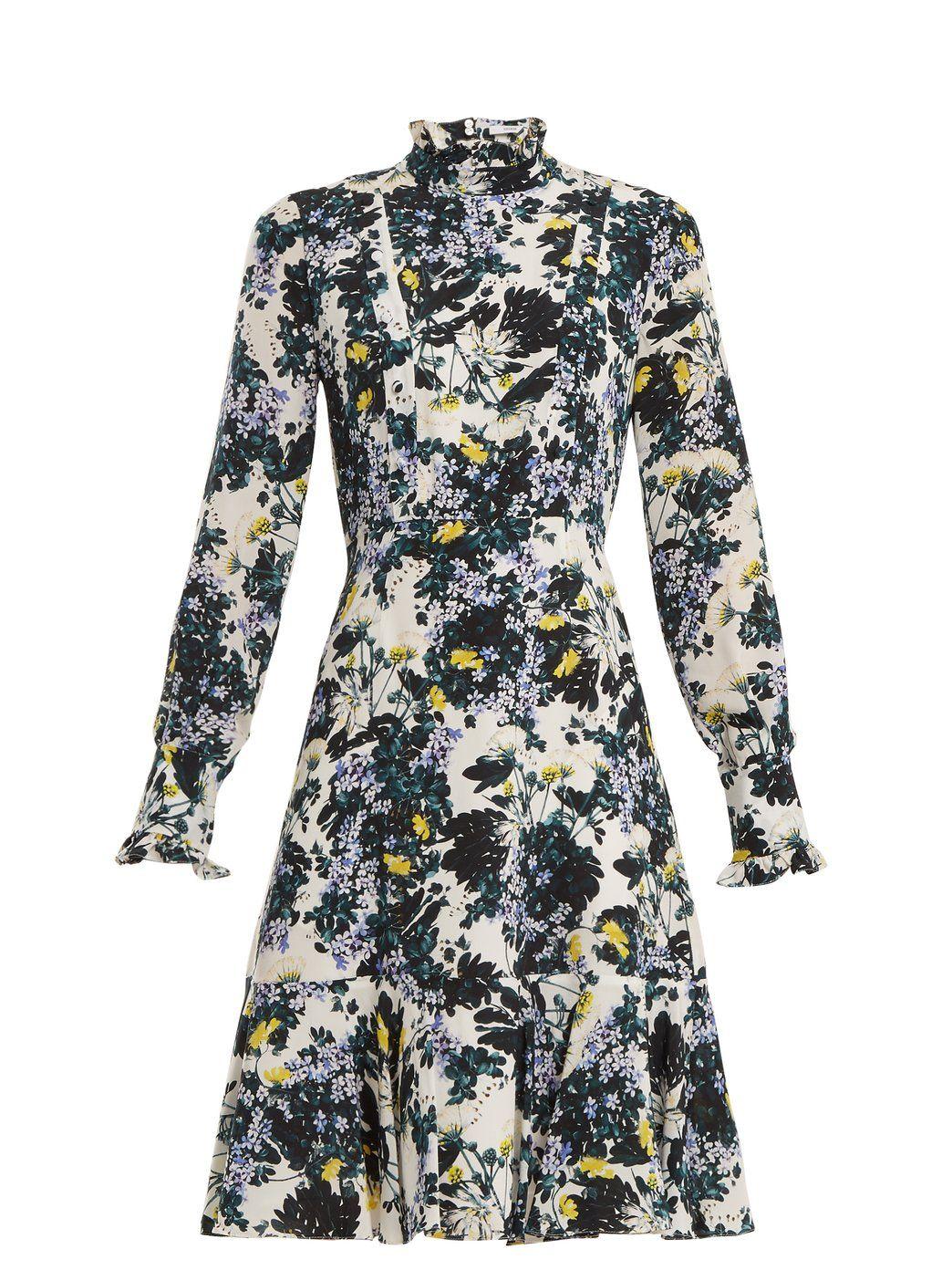 962429ec0a446a Bernette floral-print silk crepe de Chine dress