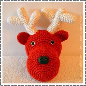 tuto renne de noel l 39 atelier enchant crochet pinterest no l crochet crochet et noel. Black Bedroom Furniture Sets. Home Design Ideas