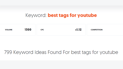 When Thinking About Best Tags For Your Youtube Video We Are Talking About Keywords If You Want To Check The Search Volume Of The Keywords Youtube You Youtube Free Youtube