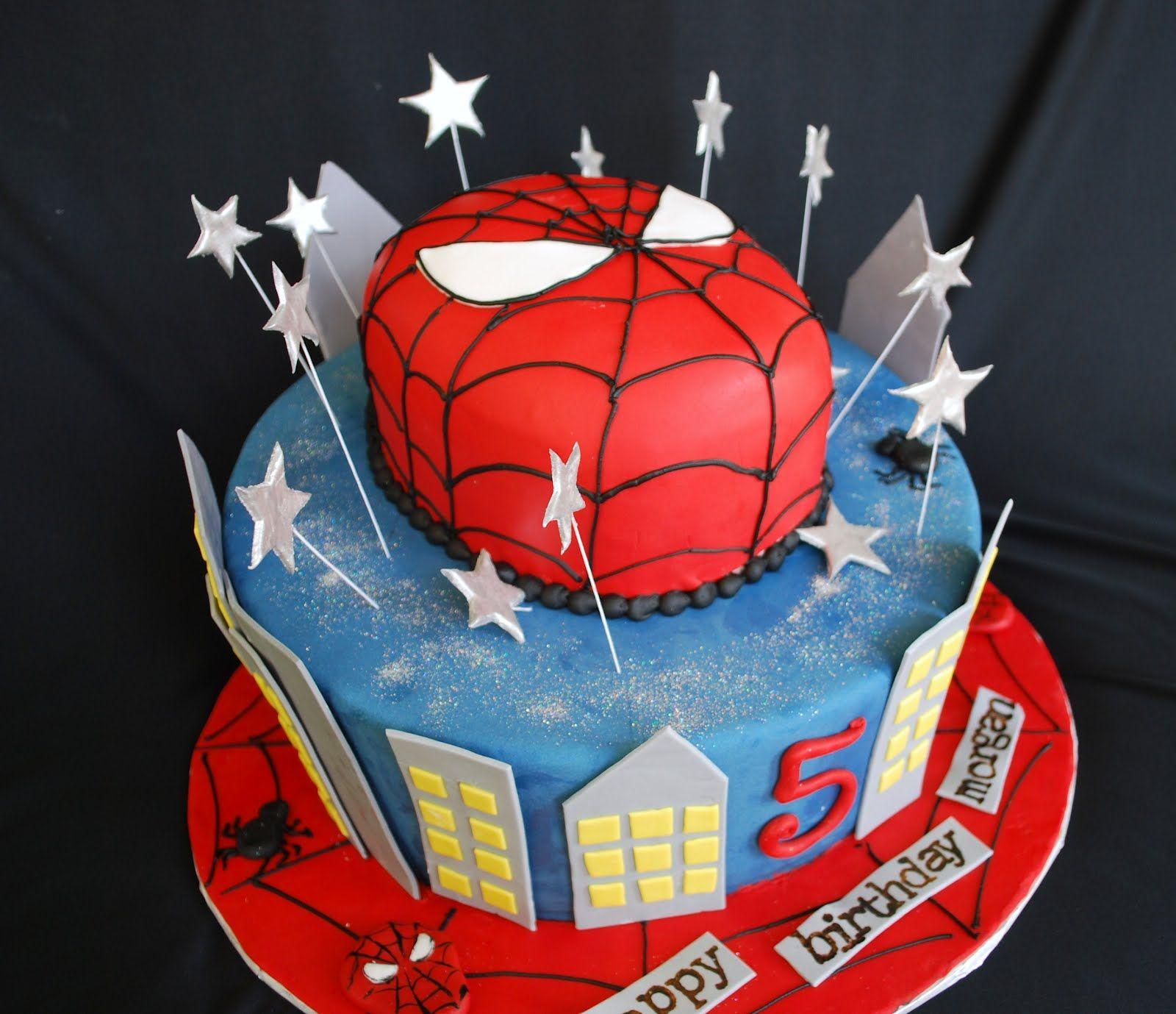 SpiderMan Birthday Cakes Best Spiderman Birthday Cakes Idea