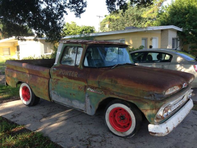 1961 Chevy Apache C 10 Rat Rod Pickup Truck 235 Bubble Top Tractor