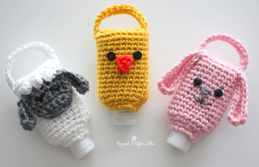 Crochet Hand Sanitizer Holder Hand Sanitizer Holder Crochet