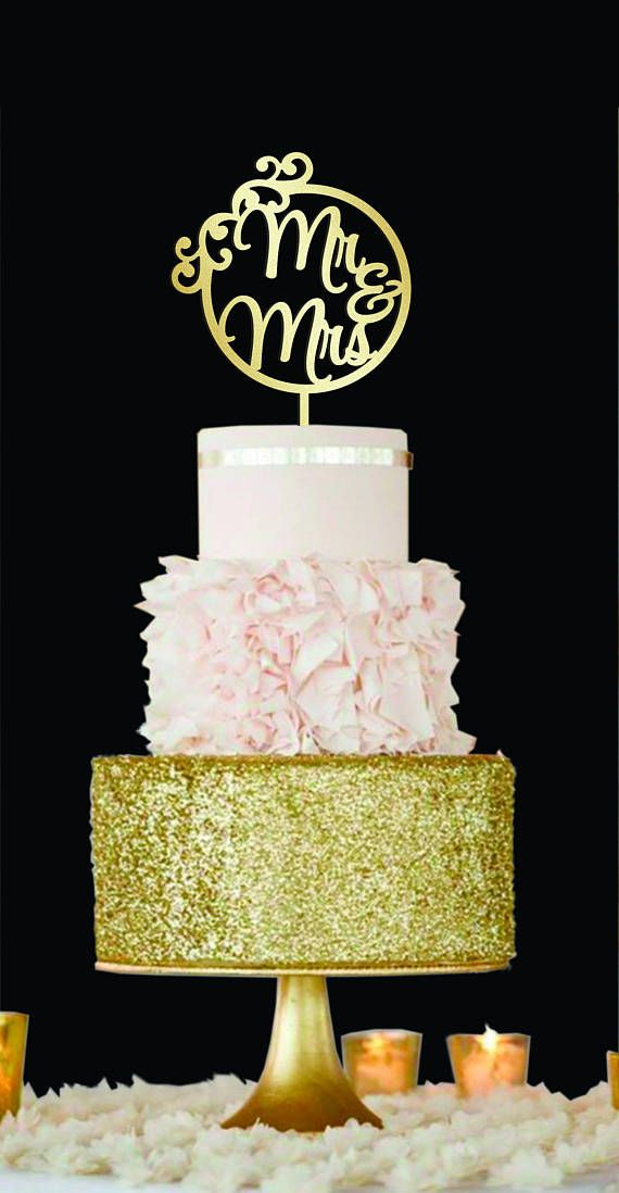 Geometric cake topper Mr and Mrs Wedding Cake Topper wood | Mr& Mrs ...