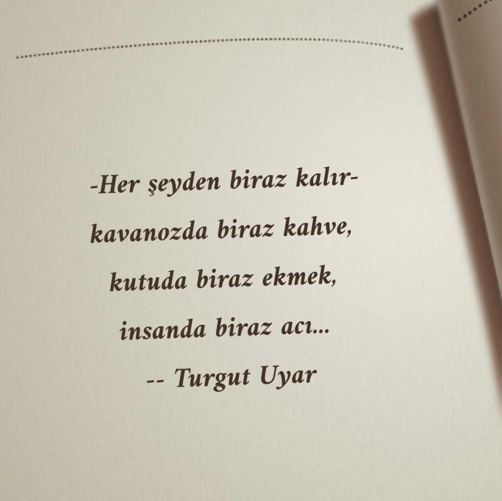 Turgut Uyar şiir Poetry Quotes Poems Ve Book Quotes