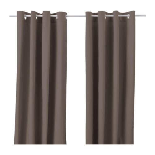 Merete Pair Of Curtains Ikea Thick Fabric Helps To Darken The Room And Reduce Sound