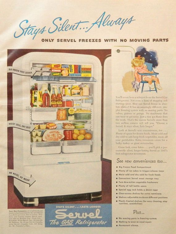 Items Similar To Vintage Refrigerator Ad Servel Fridge OR Spic And Span Contest