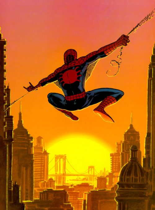 Web Slinging in the Sunset