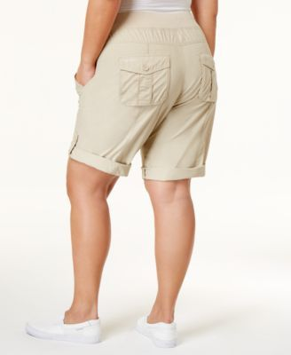 d4a4732e5b8 Calvin Klein Performance Plus Size Cargo Shorts - Tan Beige 2X ...