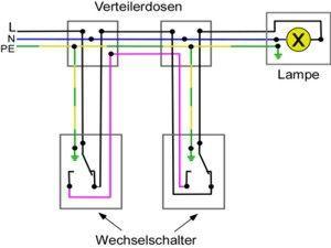 wechselschaltung strom wiring diagram. Black Bedroom Furniture Sets. Home Design Ideas