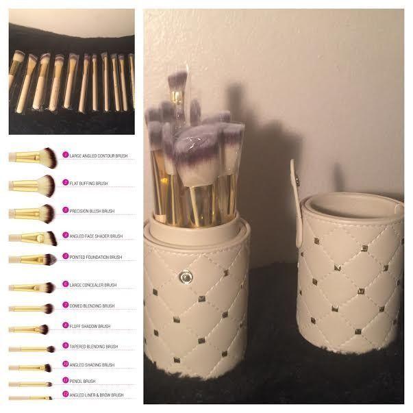 Rose Romance 12 Piece Brush Set by BH Cosmetics #17