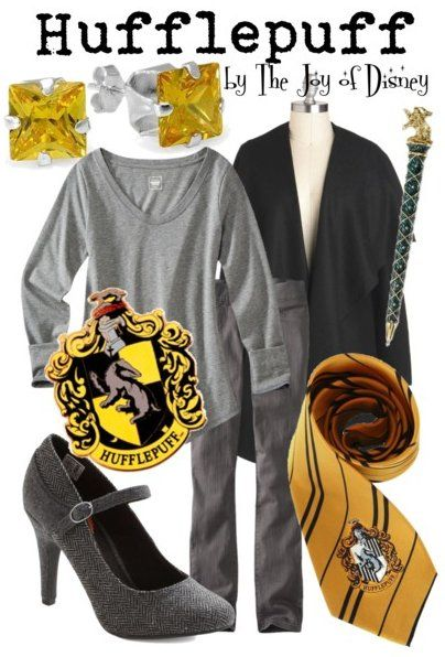 Outfit inspired by the Hufflepuff House from Hogwarts from the Harry Potter movies!