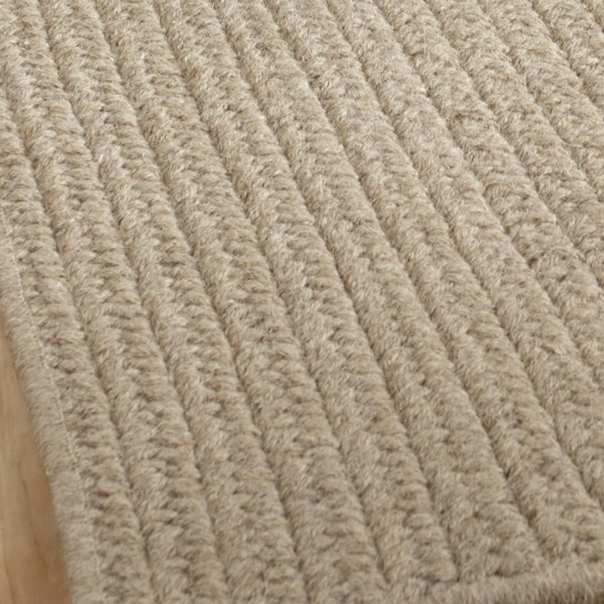 Eco Friendly Solid Braided Wool Rugs Gc Family Room